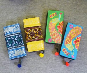 wallet, flower wallet, and embroidered wallet image
