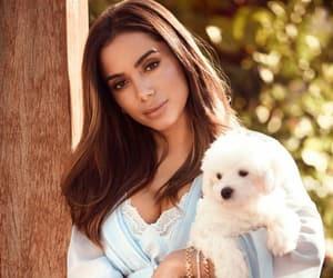 beauty, dog, and girl image