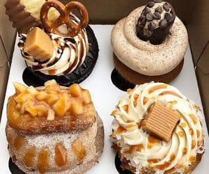 cake, chocolate, and cupcake image
