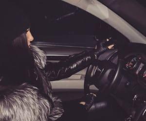 girl, car, and black image
