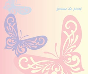 blue, gradient, and butterfly image