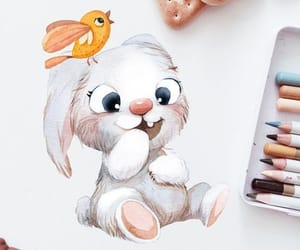 bunny, cartoon, and funny image