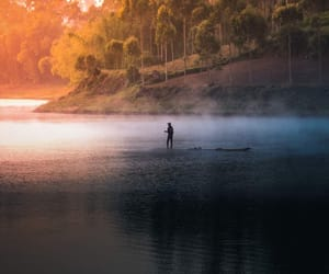 lake, nature, and paisagem image