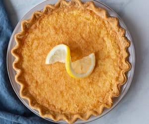 dessert, lemon, and lemon pie image