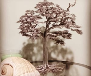art, sculpture, and tree bonsai image