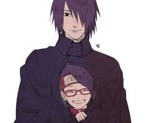 sarada, sasuke, and boruto image