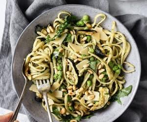 food, pasta, and vegan image