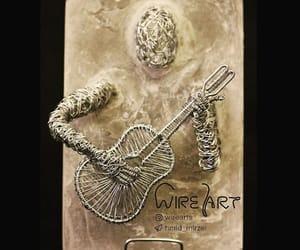 art, guitar, and sculpture image
