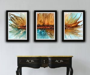 abstract art, abstract fluid art, and blue image