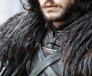 black, game of thrones, and kit harington image