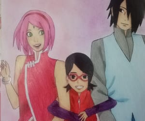 anime, art, and family image