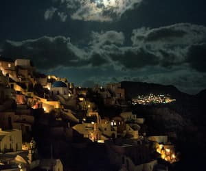Greece, moon, and night image