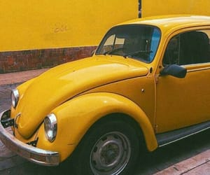 car, retro, and yellow image