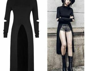 black, dark, and dress image