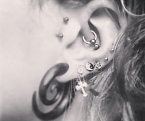 alternative, ear piercings, and body mods image