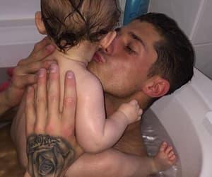 baby, bath, and boy image