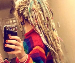 dreadlocks, pony tail, and dreads image