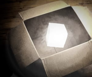 box, glowing, and gothic image