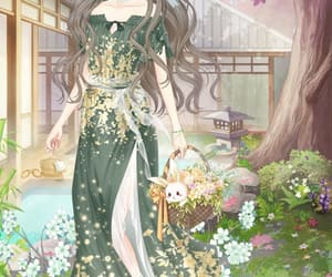 anime, sun flower, and flowers image