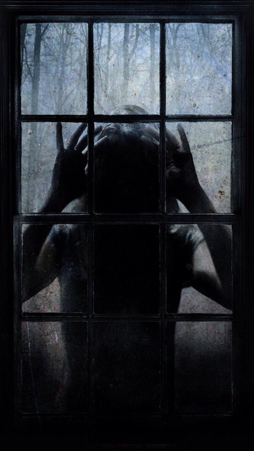 dark, window, and creepy image