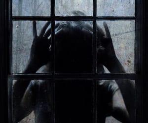 dark, window, and horror image