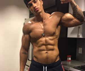 abs, fit, and flexing image