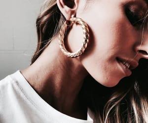girl, earrings, and hair image