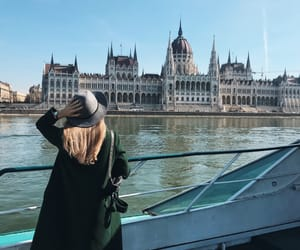 boat, budapest, and danube image