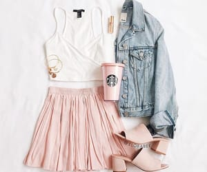 fashion, jeans jacket, and outfit image