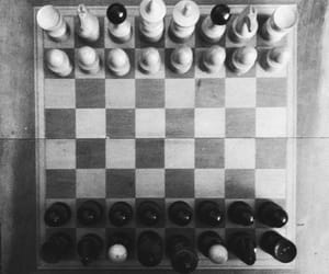 b&w, black and white, and game image