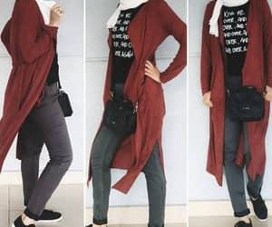 long cardigan hijab image