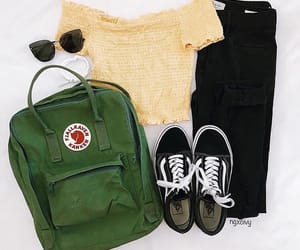 vans, bag, and outfit image