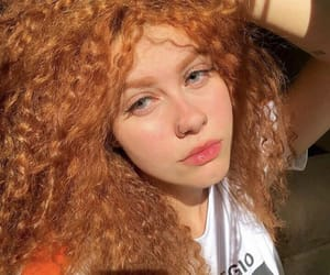 redhead, curls, and curly hair image