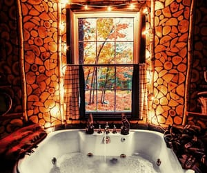 autumn, bathroom, and Herbst image