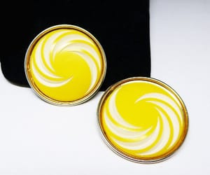 etsy, mid century modern, and round earrings image