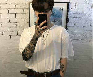 ulzzang, boy, and tattoo image