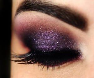 make up, purple, and makeup image