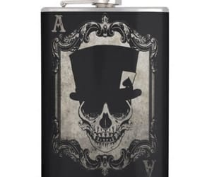 ace, ace of spades, and flask image