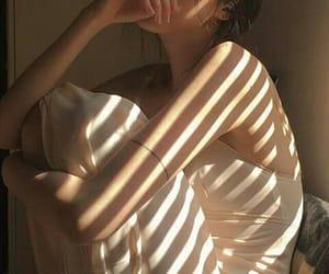 girl, aesthetic, and beige image
