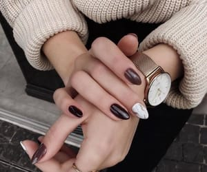 autumn, black nails, and vogue image