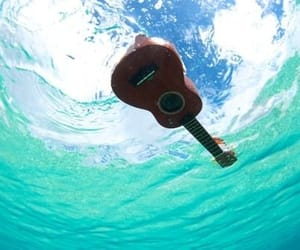 guitar, music, and water image