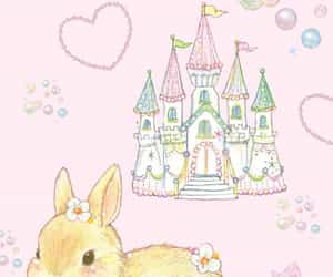 bunny, castle, and kawaii image