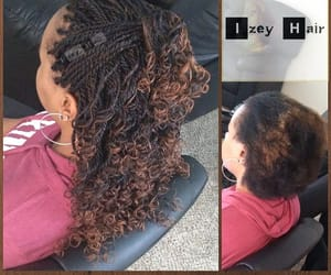 braids, senegalese twist, and black hair styles image