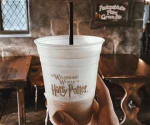 harry potter, autumn, and drink image