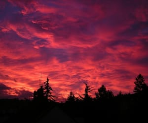 nature, sky, and red image