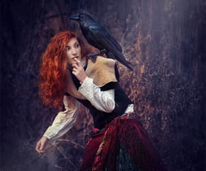 raven redhead peasent and celtic nordic photo art image