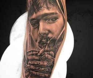 tattoo, post malone, and post malone tattoo image