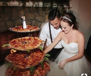 food, pizza, and wedding image