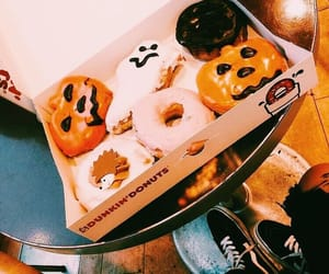 Halloween, fall, and donuts image