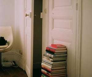 book, vintage, and door image
